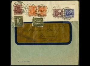 Dt. Reich, Mi. S 10 + K 1, portogerechter Fern-Brief, Mi. 42,- (8944)