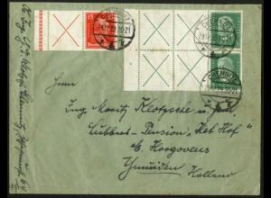 Dt. Reich, Mi. W 23 LR 1, W 27.3 (2), portogerecht, Ausland, Mi. 490,- (8972)