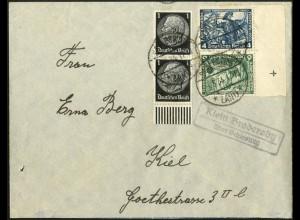 Dt. Reich, SK 19 RR 2, portogerechter Fern-Brief, Mi.-Handbuch 300,- (8979)