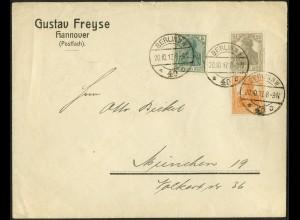 Dt. Reich, S 11 a, portogerecht auf Fern-Brief, gepr. BPP, Mi. 70,- (9093)