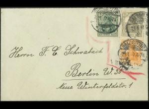 Dt. Reich, S 11 a, portogerecht auf Fern-Brief, gepr. BPP, Mi. 70,- (9094)