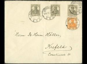 Dt. Reich, S 11 a, portogerecht auf Fern-Brief, gepr. BPP, Mi. 70,- (9095)