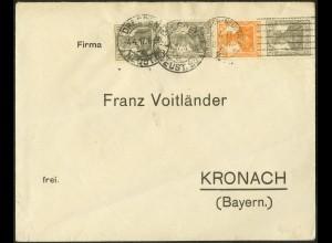 Dt. Reich, S 12 a, portogerechter Fern-Brief, gepr. BPP, Mi. 120,- (9104)