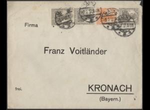 Dt. Reich, S 12 a, portogerechter Fern-Brief, gepr. BPP, Mi. 120,- (9105)