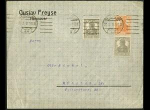 Dt. Reich, S 13 a, unterfrankierter Fern-Brief, gepr. BPP, Mi. MiF 70,- (9108)