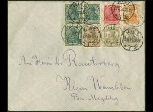 Dt. Reich, S 13 a, portogerechter Fern-Brief, gepr. BPP, Mi. 70,- (9110)