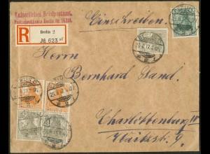 Dt. Reich, S 13 a (2), portogerechter Orts-R-Brief, gepr. BPP, Mi. 105,- (9112)