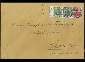 Dt. Reich, W 7 I, portogerechter Fern-Brief, Mi. 170,- (9119)