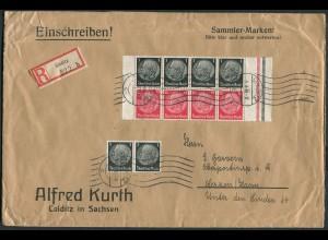 Dt. Reich, HBl. 90, portogerecht auf R-Brief, Mi. 100,- + 30 % (9139)