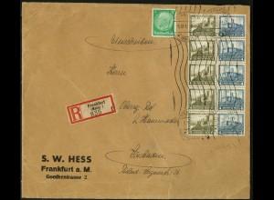 Dt. Reich, HBl. 72, auf R-Brief, Mi. Brief 220,- (9149)
