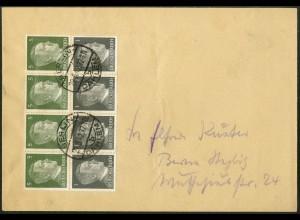 Dt. Reich, HBl. 117, Einzelfrankatur auf Orts-Brief, Mi. MiF 40,- (9153)