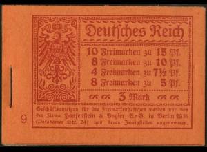 Dt. Reich, MH 11.2, original-geklammert ohne Marken, Mi. für kpl. 900,- (9196)