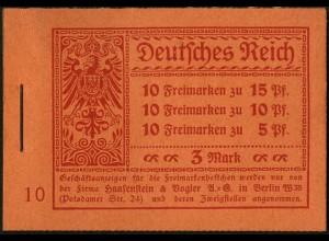 Dt. Reich, MH 12, original-geklammert ohne Marken, Mi. für kpl. 420,- (9197)