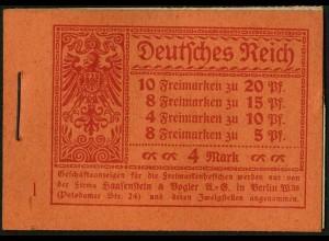 Dt. Reich, MH 13, original-geklammert ohne Marken, Mi. für kpl. 300,- (9198)