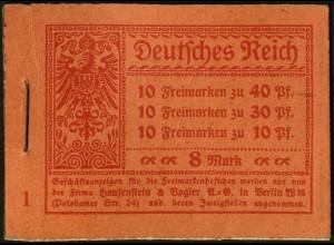 Dt. Reich, MH 14.1, original-geklammert ohne Marken, Mi. für kpl. 230,- ++(9199)