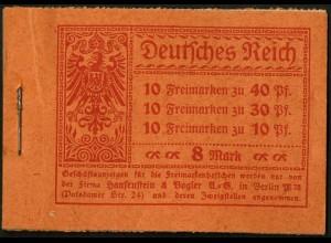 Dt. Reich, MH 14.2 A 1, original-geklammert ohne Marken, Mi. für kpl. 600,- (9200)