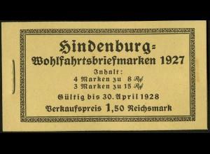 Dt. Reich, MH 24.1, original-geklammert ohne Marken, Mi. für kpl. 350,- (9207)