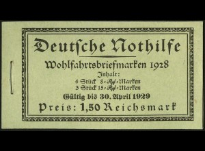 Dt. Reich, MH 27.1, original-geklammert ohne Marken, Mi. für kpl. 600,- (9211)