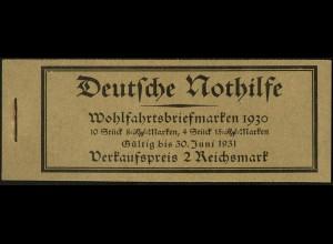 Dt. Reich, MH 29, original-geklammert ohne Marken, Mi. für kpl. 480,- (9214)