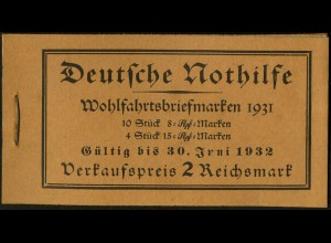 Dt. Reich, MH 30, original-geklammert ohne Marken, Mi. für kpl. 500,- (9215)
