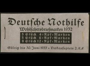 Dt. Reich, MH 31, original-geklammert ohne Marken, Mi. für kpl. 350,- (9216)