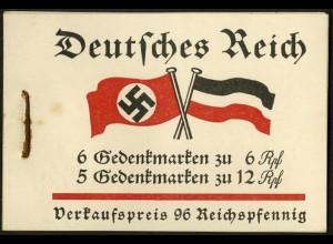 Dt. Reich, MH 32, original-geklammert ohne Marken, Mi. für kpl. 180,- (9217)