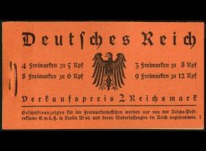 Dt. Reich, MH 33, original-geklammert ohne Marken, Mi. für kpl. 950,- (9219)