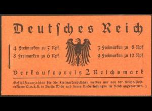 Dt. Reich, MH 33, original-geklammert ohne Marken, Mi. für kpl. 950,- (9220)