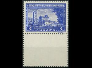 Bes. - Serbien, Mi. 78 L, mit Leerfeld unten, postfrisch (9308)