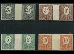 Oberschlesien, Mi. 1-4 ZW, mit 3 a, postfrisch, Mi. 57,- ++ (9317)