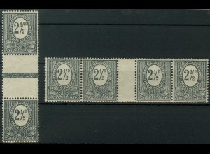 Oberschlesien, Mi. 1 b ZW + 1 b ZS, postfrisch, Mi. 20,- ++ (9318)
