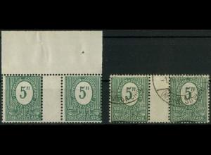 Oberschlesien, Mi. 3 a ZW, postfrisch + 3 b ZW gest., Mi. 36,- ++ (9331)
