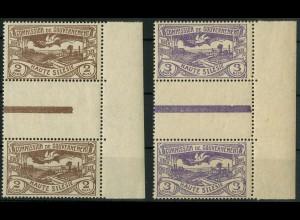 Oberschlesien, Mi. 27 c + 28 a ZS, postfrisch, farbgeprüft BPP, Mi. 55,- ++ (9337)