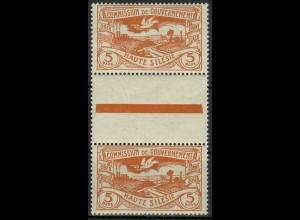 Oberschlesien, Mi. 29 a ZS, postfrisch, farbgeprüft BPP, Mi. 100,- ++ (9341)
