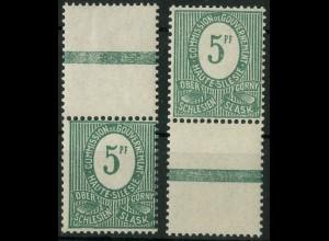 Oberschlesien, Mi. 3 a L (2), postfrisch, farbgeprüft BPP (9343)