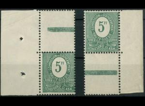 Oberschlesien, Mi. 3 a L (2), postfrisch, farbgeprüft BPP (9348)