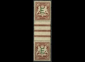 Bayern, Mi. D 5 ZS II, postfrisch, ungeknickt, Mi. 130,- (9353)