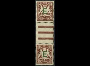 Bayern, Mi. D 5 ZS II, postfrisch, ungeknikt, Mi. 130,- (9356)
