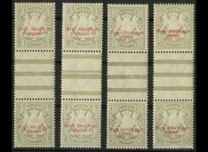 Bayern, Mi. P 10-13 ZS, postfrisch, Mi. 85,- (9357)