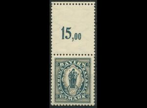 Bayern, Mi. 189 L, mit gezähntem Leerfeld, postfrisch, ungeknickt (9360)