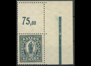 Bayern, Mi. 189 L, mit gezähntem Leerfeld, postfrisch (9363)