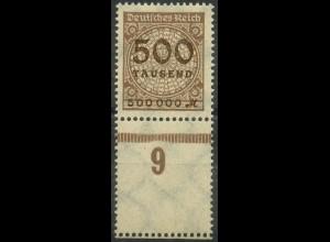 Dt. Reich, Mi. 313 L, postfrisches Unterrandstück m. Leerfeld, ungeknickt (9386)