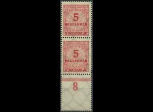 Dt. Reich, Mi. 317 L, postfrisches Unterrandstück m. Leerfeld, ungeknickt (9388)