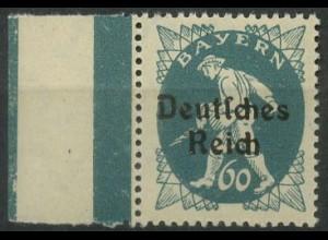 """Dt. Reich, Mi. 126 XVI, postfr. m. Plattenfehler """"R abgeschrägt"""", Mi. 30,- (9389"""