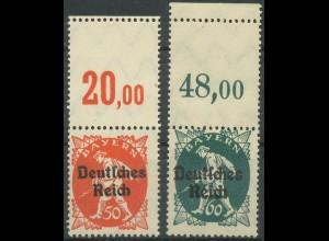 Dt. Reich, Mi. 125 L + 126 L, je m. Leerfeld, postfrisch, ungeknickt (9395)