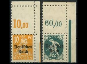 Dt. Reich, Mi. 120 L + 126 L, je m. Leerfeld, postfrisch, ungeknickt (9398)