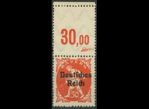 Dt. Reich, Mi. 125 mit Leerfeld am Oberrand, postfrisch, ungeknickt (9403)