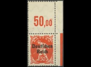 Dt. Reich, Mi. 125 mit Leerfeld am Oberrand, postfrisch, ungeknickt (9404)