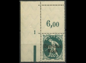 Dt. Reich, Mi. 126 mit Leerfeld + Pl.-Nr., postfrisch, ungeknickt (9406)