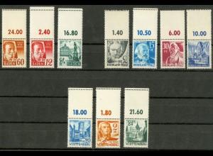 Frz. Zone, 10 versch. Marken mit Leerfeld, postfrisch, Mi. 140,- (9440)